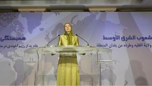 """رئيسة المعارضة الإيرانية تنشر فيديو بعنوان """"وقفة إجلال وتكريم لشهداء المقاومة السورية"""""""