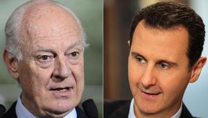 """دي ميستورا: خلال 48 ساعة الماضية قُتل سوري كل 25 دقيقة.. ولم يعد """"الانتقال السياسي"""" من المحرمات"""