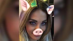 """دومينيك حوراني تثير ضجة بفيديو تشبّه نفسها فيه بـ """"الخنزير"""""""
