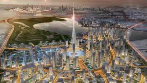 حاكم دبي ينشر صورة نادرة له معلناً عن ناطحة سحاب أعلى من برج خليفة