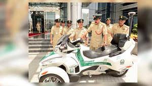 دراجة فخمة تنضم لأسطول دوريات شرطة دبي