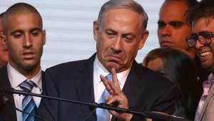 """نتنياهو يتقدم بـ29 مقعدا على """"التحالف الصهيوني"""" ويعلن فوزه.. العرب """"قوة ثالثة"""" بالكنيست رغم تحذيراته من تصويتهم"""