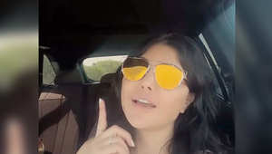 مشهد من فيديو للحظة توجه هيفاء لاحياء الحفل