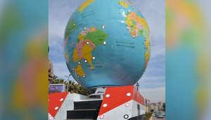 مجسم للكرة الأرضية من تصميم الجيش المصري يُشعل مواقع التواصل.. وباسم يوسف: ايه الفضائح دي؟
