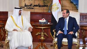 """السيسي ومحمد بن زايد يؤكدان أهمية محاربة تمويل الإرهاب ووقف توفير """"الغطاء الإعلامي"""" للجماعات الإرهابية"""