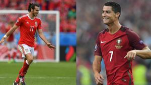 لاعبا ريال مدريد كريستيانو رونالدو وغاريث بيل بتحد تاريخي في يورو 2016