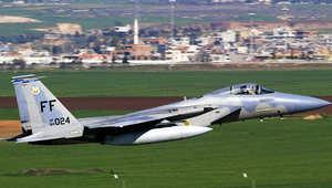 """مقاتلة """"اف-15"""" من طراز الطائرة التي تحطمت"""