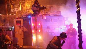 بالصور: مظاهرات في فيرغسون وكبرى مدن أمريكا بعد الحكم بقضية مقتل شاب أسود