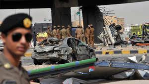 أرشيف- انفجار صهريج غاز في العاصمة السعودية الرياض، 1 نوفمبر/ تشرين الثاني 2012