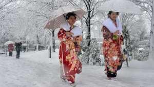 أعلى نسبة هطول للثلوج: اليابان