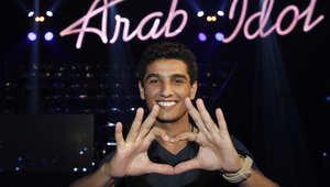 محمد عساف أثناء التدريب على برنامج المواهب عرب أيدول في مدينة جونيه شمال العاصمة اللبنانية بيروت