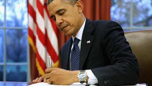 أوباما يوقع على قرار رفعه الكونغرس يخول المجلس بمراجعة الاتفاق النووي الإيراني