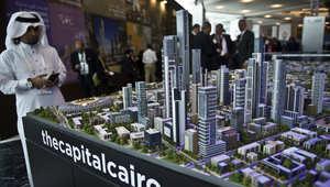 نموذج مصغر من العاصمة المصرية الجديدة معروض في قاعة المؤتمرات في منتجع البحر الأحمر في شرم الشيخ