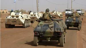 قوات فرنسية مع قوة من الأمم المتحدة في دورة لمكافحة الإرهاب في مالي 30 مايو/ أيار 2015