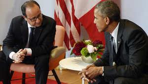 """أوباما يتعهد لهولاند بوقف """"ممارسات الماضي"""""""