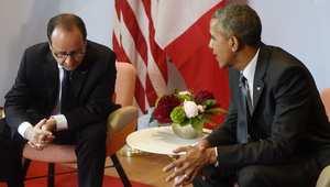 """أوباما وهولاند يؤكدان التزامها بتدمير """"داعش"""""""