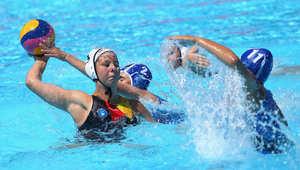 نساء ألمانيا وإسرائيل خلال مباراة كرة الماء في باكو