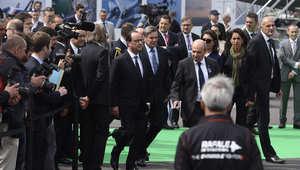 الرئيس الفرنسى لدى افتتاح المعرض