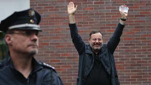 أحمد منصور بعد الإفراج عنه في ألمانيا