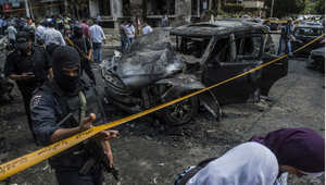 موقع التفجير الذي استهدف موكب النائب العام المصري هشام بركات