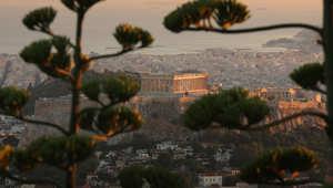 منظر لأكروبوليس اليونان في أثينا