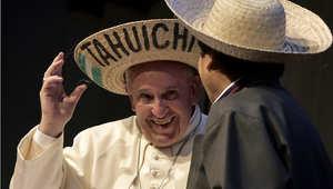 البابا فرانسيس مع الرئيس البوليفي 9 يوليو/ تموز 2015