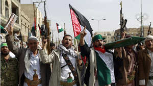 أنصار الحوثي يتظاهرون في يوم القدس بصنعاء