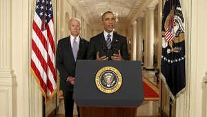 """أوباما """"يبارك"""" ترشح بايدن للبيت الأبيض وجدل حول تأثير الخطوة المرتقب على كلينتون والديمقراطيين"""