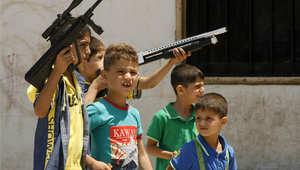 العاب العيد لأطفال سوريا المهجرين في تركيا