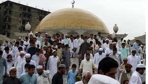 صلاة العيد - بيشاور، باكستان