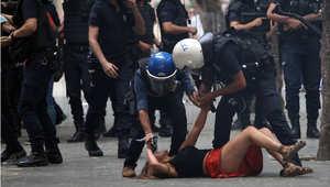 الشرطة التركية تفرق متظاهرين ضد الضربات العسكرية في سوريا والعراق
