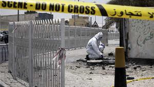 موقع التفجير في منطقة سترة بالبحرين الذي استهدف رجال الشرطة وأسفر عن مقتل اثنين منهم 28 يوليو/ تموز 2015