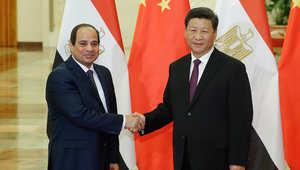 """السيسي من الصين: اكتشاف حقل الغاز في """"المتوسط"""" لن يكون الأخير.. وقناة السويس الجديدة توافق رؤية بكين لإحياء """"طريق الحرير"""""""