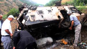 مقتل 12 شرطياً تركياً في انفجار شرق البلاد.. وداود أوغلو يدعو الأحزاب السياسية إلى الوحدة لمواجهة الإرهاب