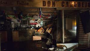 مخزن تضرر بعد زلزال كبير في كونكون، نحو 110 كم شمال غرب سانتياغو
