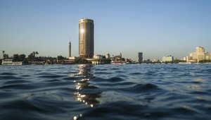 منظر عام لفندق سوفيتيل على ضفة نهر النيل في العاصمة المصرية، القاهرة