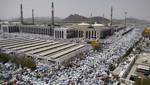 مشهد للحجيج في مسجد نمرة