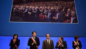 """هولاند: فرنسا في حالة حرب ضد """"داعش"""".. وفرض الطوارئ هدفه استرداد حرية الفرنسيين"""