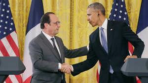 """أوباما: من حق تركيا الدفاع عن أجوائها.. توافق مع هولاند على """"وجوب"""" رحيل الأسد و""""تدمير داعش"""""""