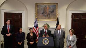 """أوباما: لا توجد معلومات استخباراتية عن تهديد حقيقي لأمن أمريكا.. ونفذنا 8 آلاف غارة على مواقع """"داعش"""""""