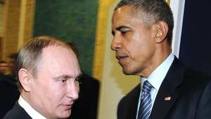 """أوباما يناشد بوتين وقف استهداف المعارضة السورية.. والكرملين يؤكد تنشيط التعاون مع أمريكا لمحاربة """"داعش"""""""