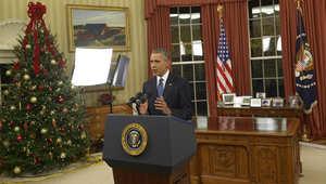 """أوباما: سندمر """"داعش"""" ولن نتورط في حرب برية.. وأمريكا ليست في حرب مع الإسلام لكن على قادة المسلمين مواجهة أيدولوجية الكراهية"""