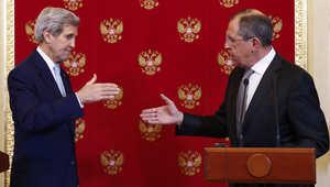 بعد اجتماع استمر لأكثر من 3 ساعات مع بوتين ولافروف.. كيري: التقدم ممكن رغم الخلافات بين روسيا وأمريكا