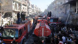 المرصد السوري: أكثر من 120 قتيلا وجريحا نتيجة تفجيرين في حي تسكنه أغلبية علوية في حمص
