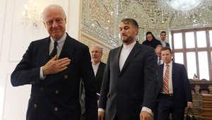 مبعوث الأمم المتحدة: التوتر بين إيران والسعودية لن يؤثر على المفاوضات السورية.. وظريف: لن نسمح للرياض بذلك