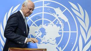 الأمم المتحدة: المفاوضات السورية تبدأ اليوم بلقاء دي مستورا مع وفد نظام الأسد
