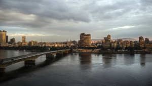 صورة لنهر النيل مع غروب الشمس عن العاصمة المصرية، القاهرة