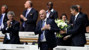 الرئيس الجديد للفيفا جياني انفانتينو