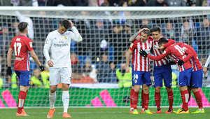 """ديربي مدريد ينتهي بفوز أتليتكو على ريال في """"البرنابيو"""""""