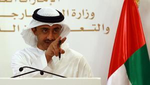 """عبدالله بن زايد: إن أرادت قطر أن تكون عضواً بـ""""التحالف"""" فـ""""أهلاً وسهلاً"""".. وإن أرادت الجانب الآخر فـ""""مع السلامة"""""""